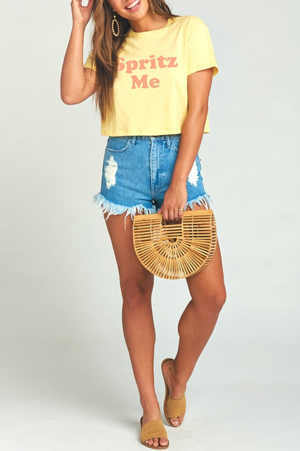 Show Me Your Mumu Coalson Crop Tee - Main Image