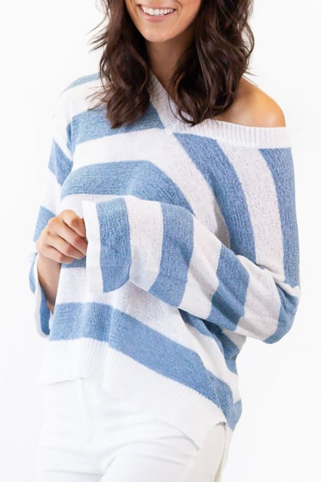 Pink Martini Collection Coast Cottage Sweater - Back Cropped Image