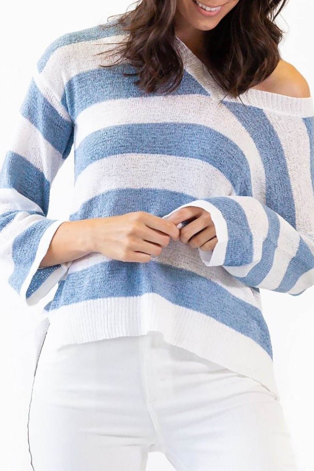 Pink Martini Collection Coast Cottage Sweater - Side Cropped Image