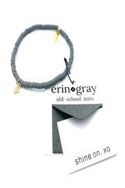 ERIN GRAY COASTAL DISC BEADS LUXE CROSS BRACELET - Product Mini Image
