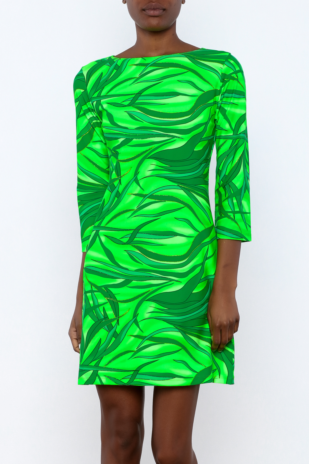 Coastal Girls Co. Green Wave Dress - Front Cropped Image