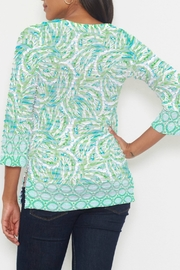 Whimsy Rose Coastal Paisley Lace Green 3/4 T - Front full body