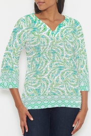 Whimsy Rose Coastal Paisley Lace Green 3/4 T - Front cropped