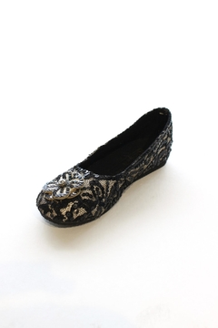 Coastal Satin/lace Ballerinas - Product List Image