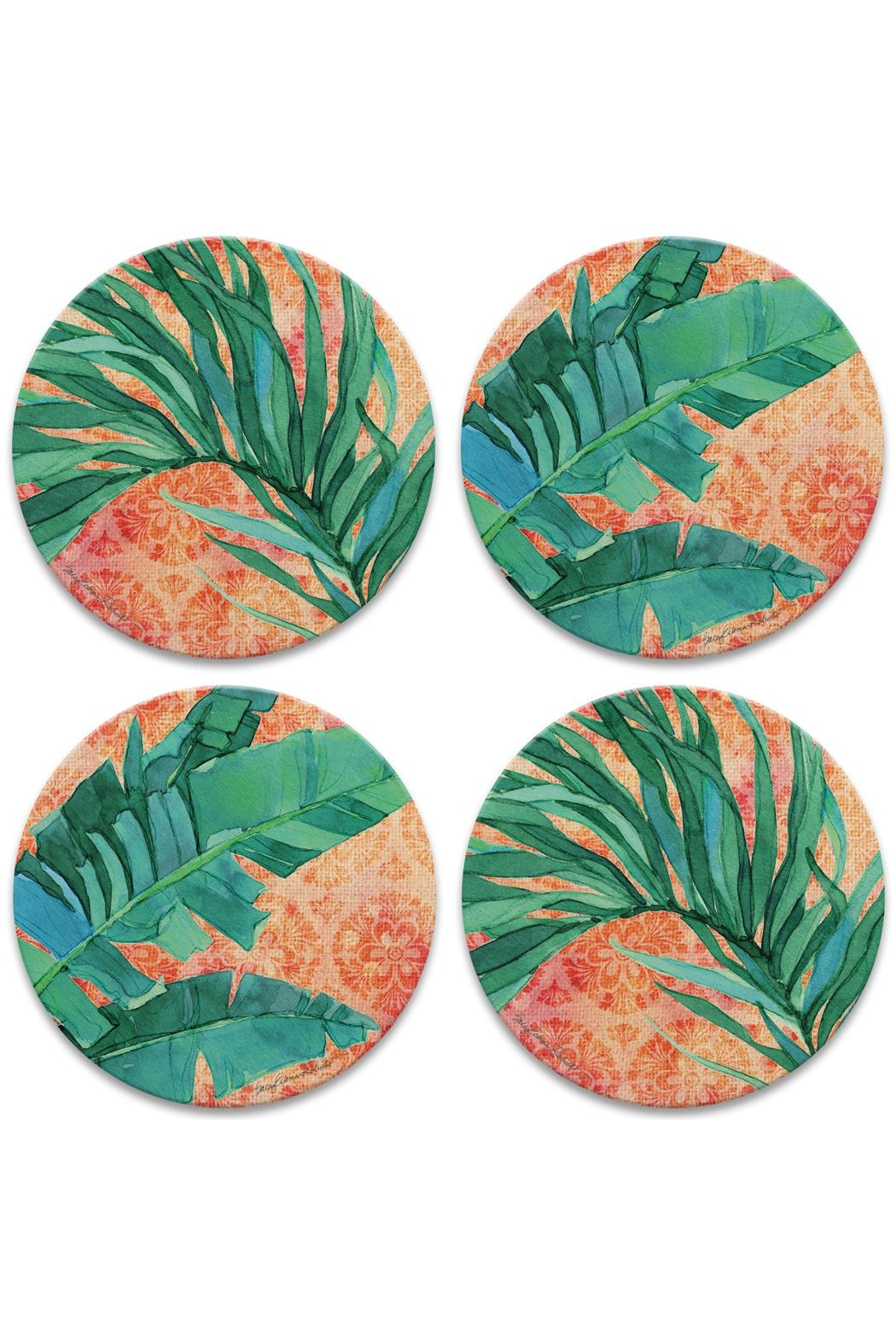 Coasterstone Bali Palm Coasters - Front Cropped Image