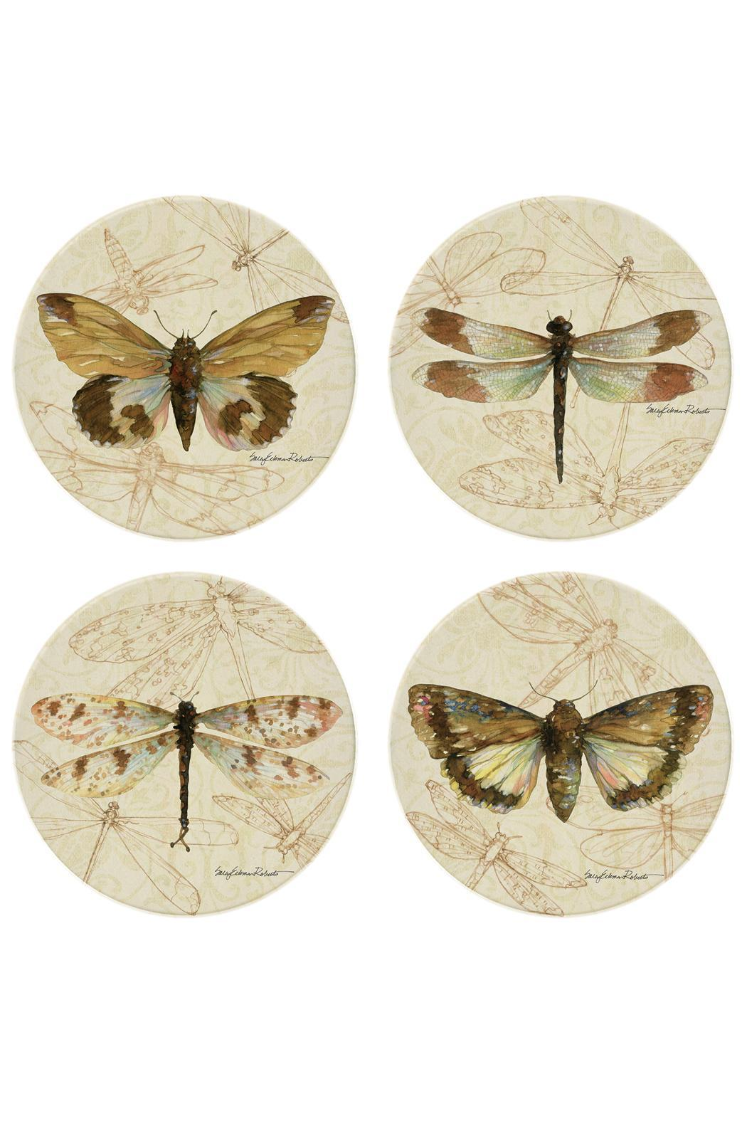 Coasterstone Dragonfly Moth Coaster Collection - Main Image