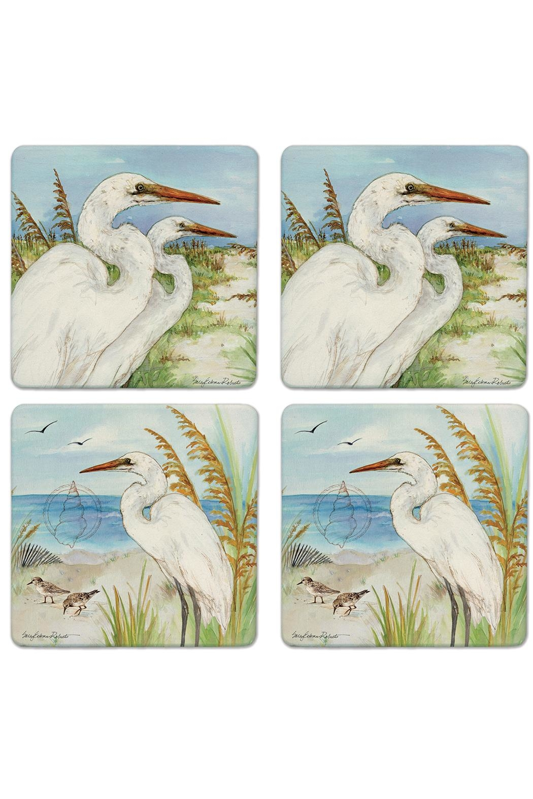 Coasterstone Great Egrets Coaster Set - Main Image