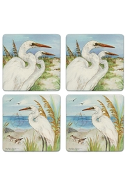 Coasterstone Great Egrets Coaster Set - Front cropped