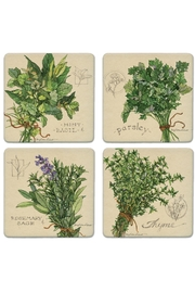 Coasterstone Herb Coaster Set - Front cropped