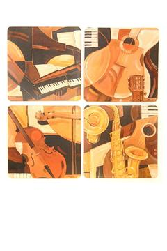 Shoptiques Product: Musical Instrument Coasters