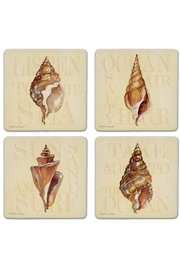 Coasterstone Seashell Sentiment Coasters - Front cropped