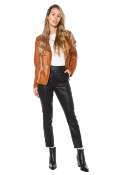 Juicy Couture Coated  Black Snake Skinny Pull-On Jean - Product List Image