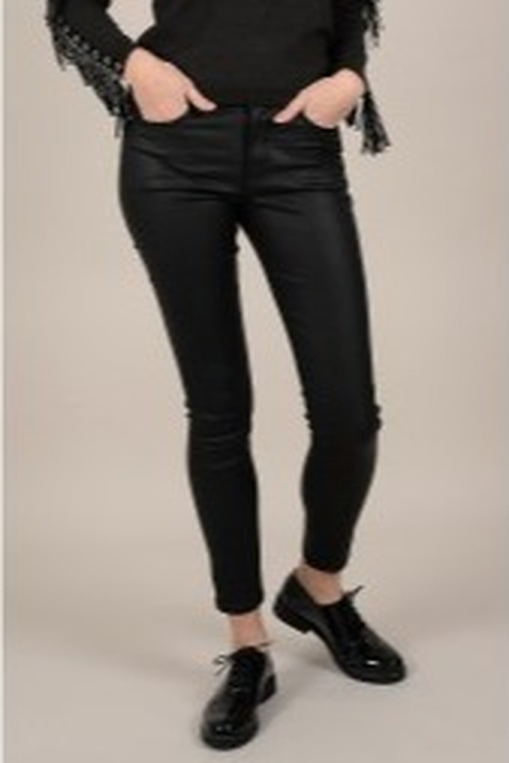 Molly Bracken Coated Zip-Up Pants - Main Image