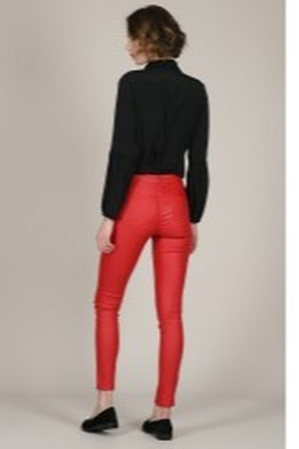 Molly Bracken Coated Zip-Up Pants - Front Full Image