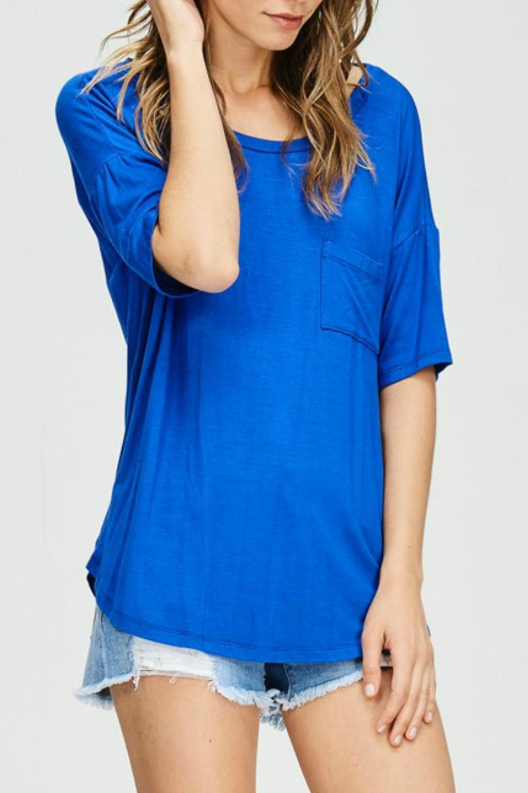 Cherish Cobalt Blue Top - Front Full Image