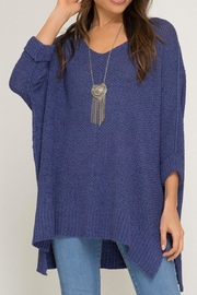 She + Sky Cobalt Knit Sweater - Product Mini Image