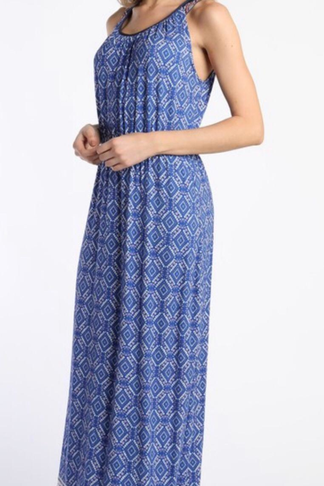 Skies Are Blue Cobalt Maxi Dress - Front Full Image