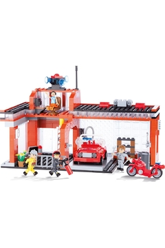 Cobi Toys Action Town Fire Station Tile - Alternate List Image
