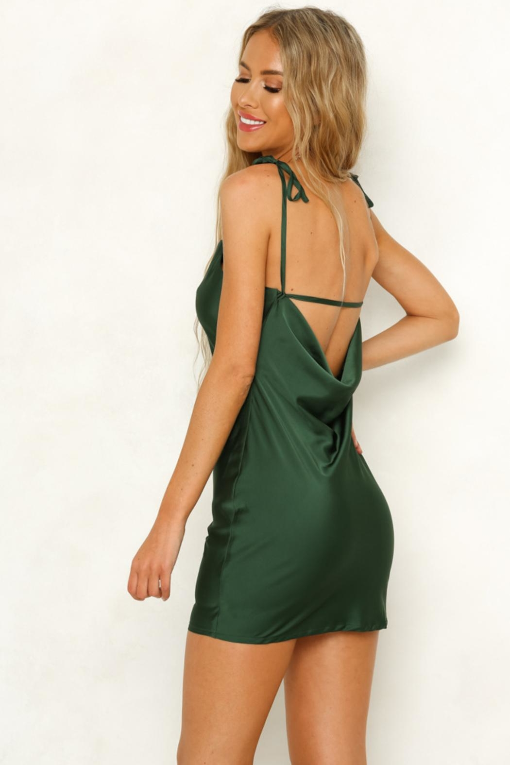 Rumor Cobra Slip Dress - Front Full Image
