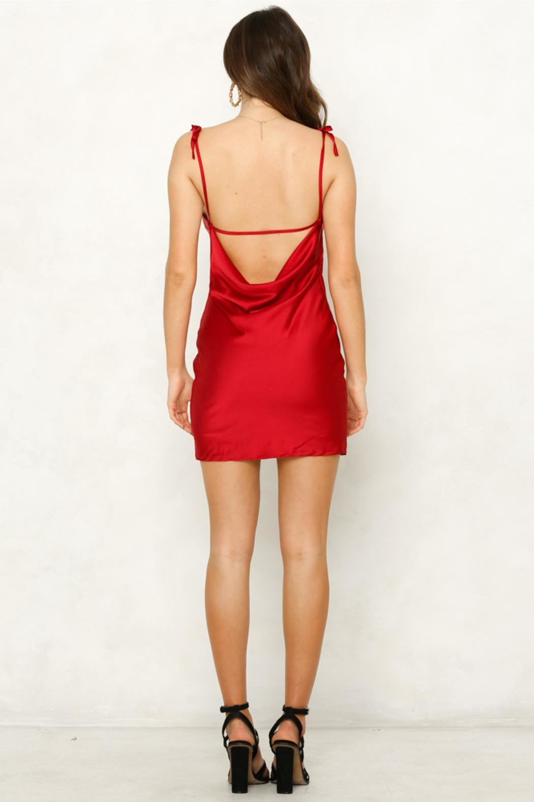Rumor Cobra Slip Dress - Back Cropped Image