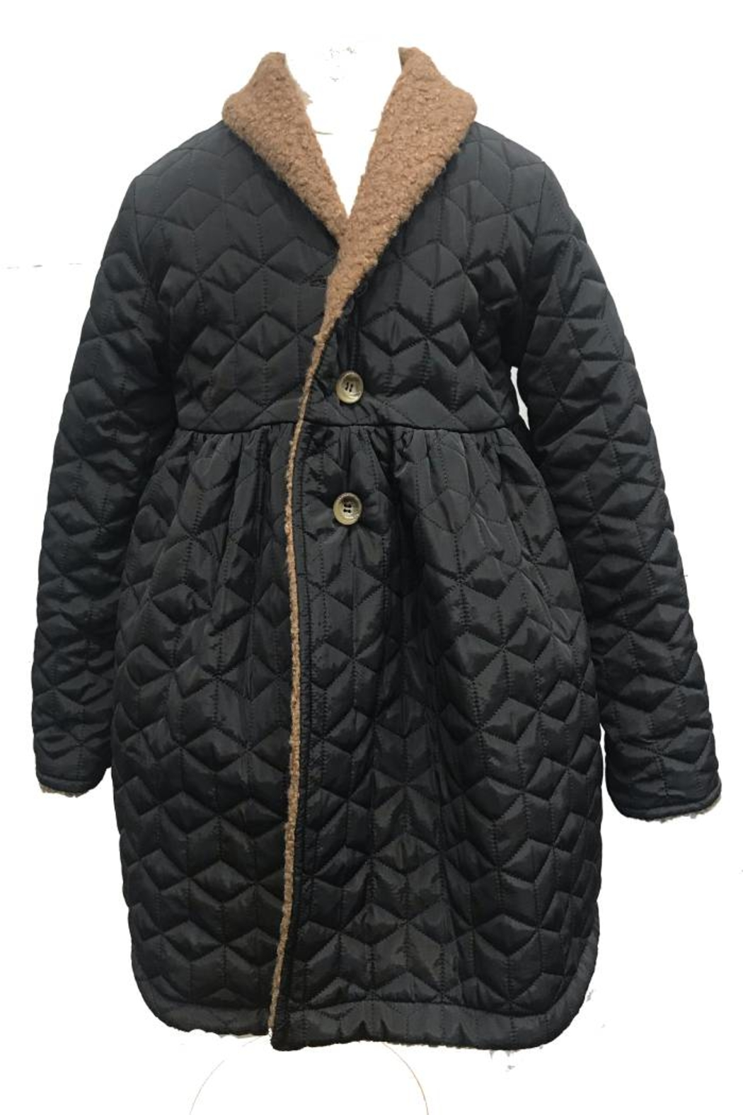 Cocco Rose Reversible Coat for Girls | Dual Way Wearable | Soft & Comfy | Winter Jacket - Main Image