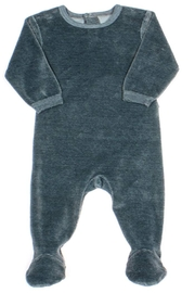 Coccoli Cotton Knitted Velour Footie Romper For New Born Baby Girls - Front cropped