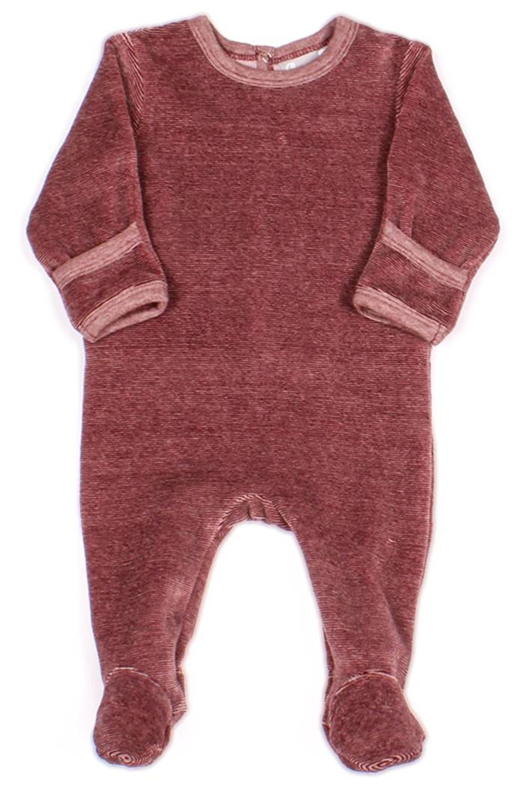 Coccoli Cotton Knitted Velour Footie Romper For New Born Baby Girls - Main Image