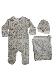 Coccoli Knitted Cotton Layette Set (Footie+Cap+Blanket) - Product Mini Image