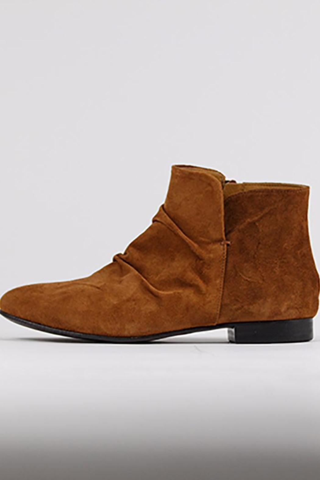 Coclico Suede Cognac Boots - Front Cropped Image