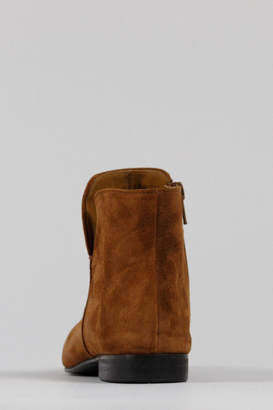 Coclico Suede Cognac Boots - Back Cropped Image