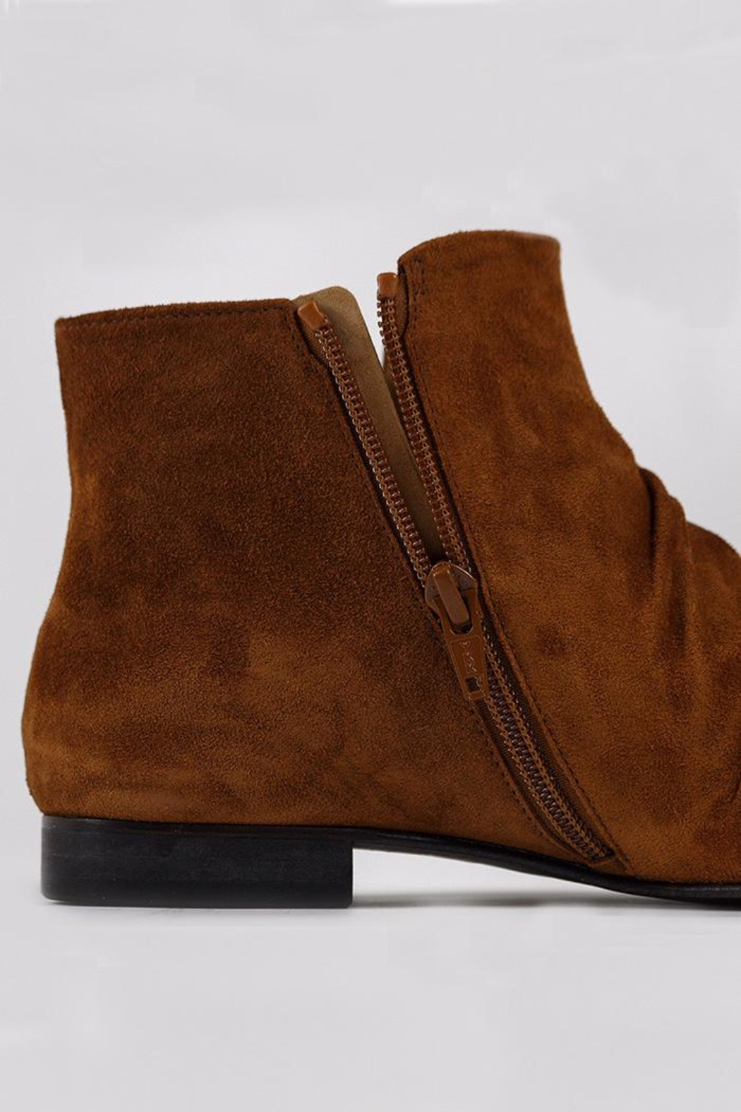 Coclico Suede Cognac Boots - Side Cropped Image