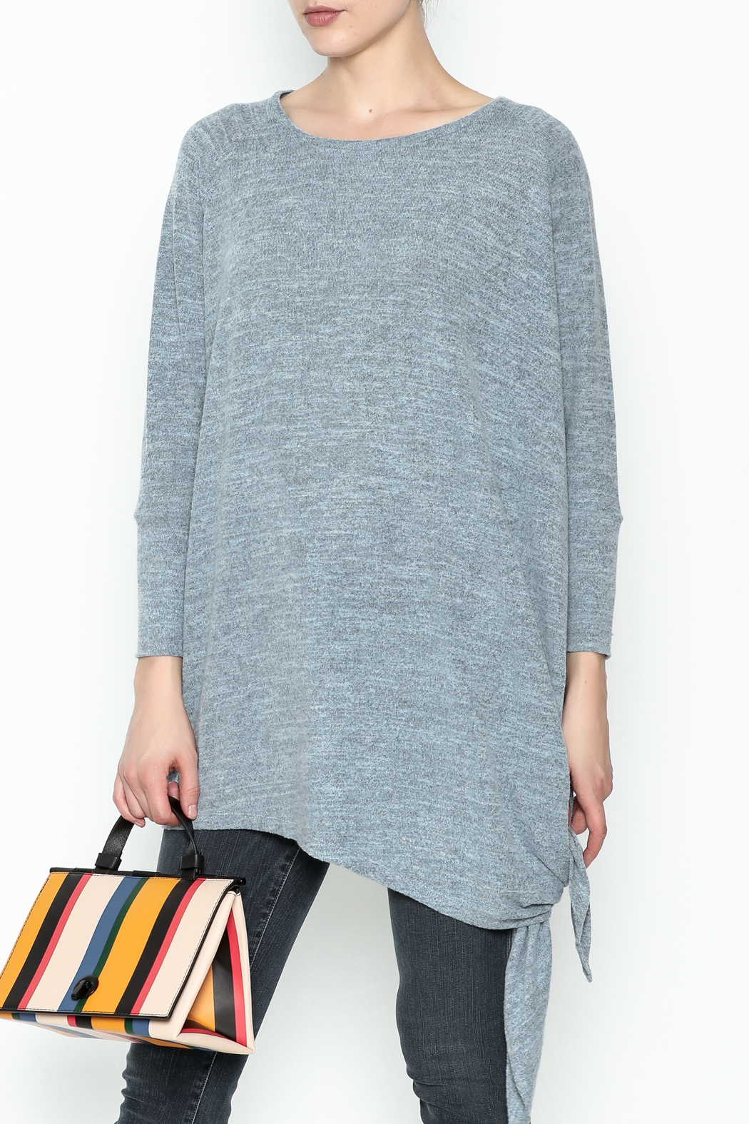 Coco + Carmen Assymetrical Tunic Top - Front Cropped Image