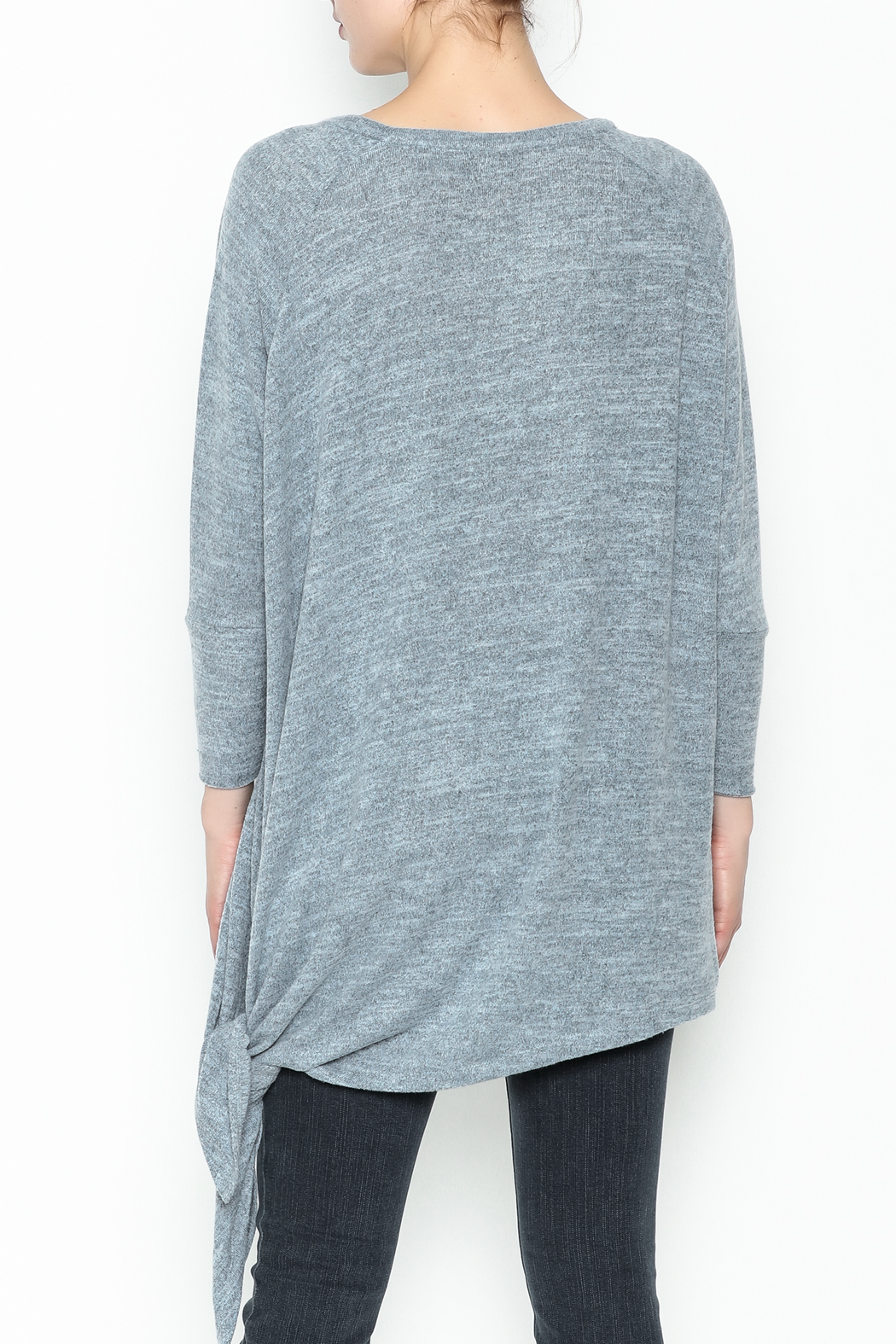 Coco + Carmen Assymetrical Tunic Top - Back Cropped Image
