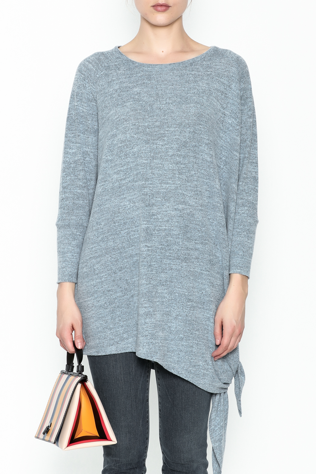 Coco + Carmen Assymetrical Tunic Top - Front Full Image