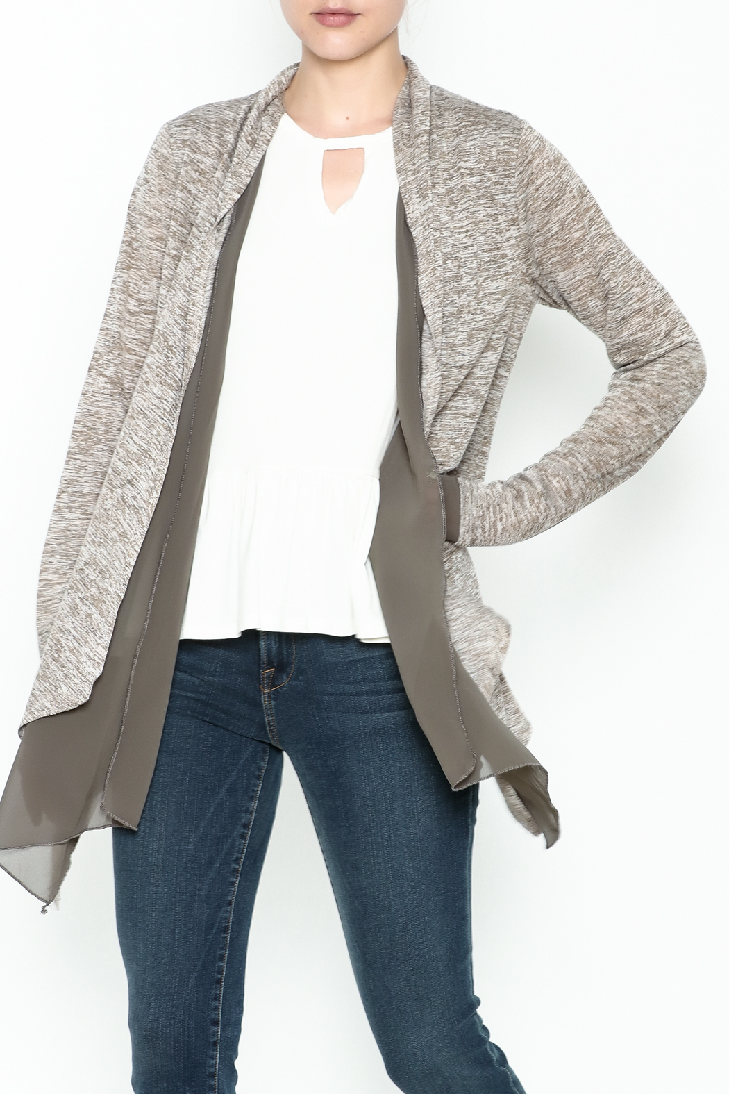 Coco + Carmen Double Layer Cardigan - Main Image