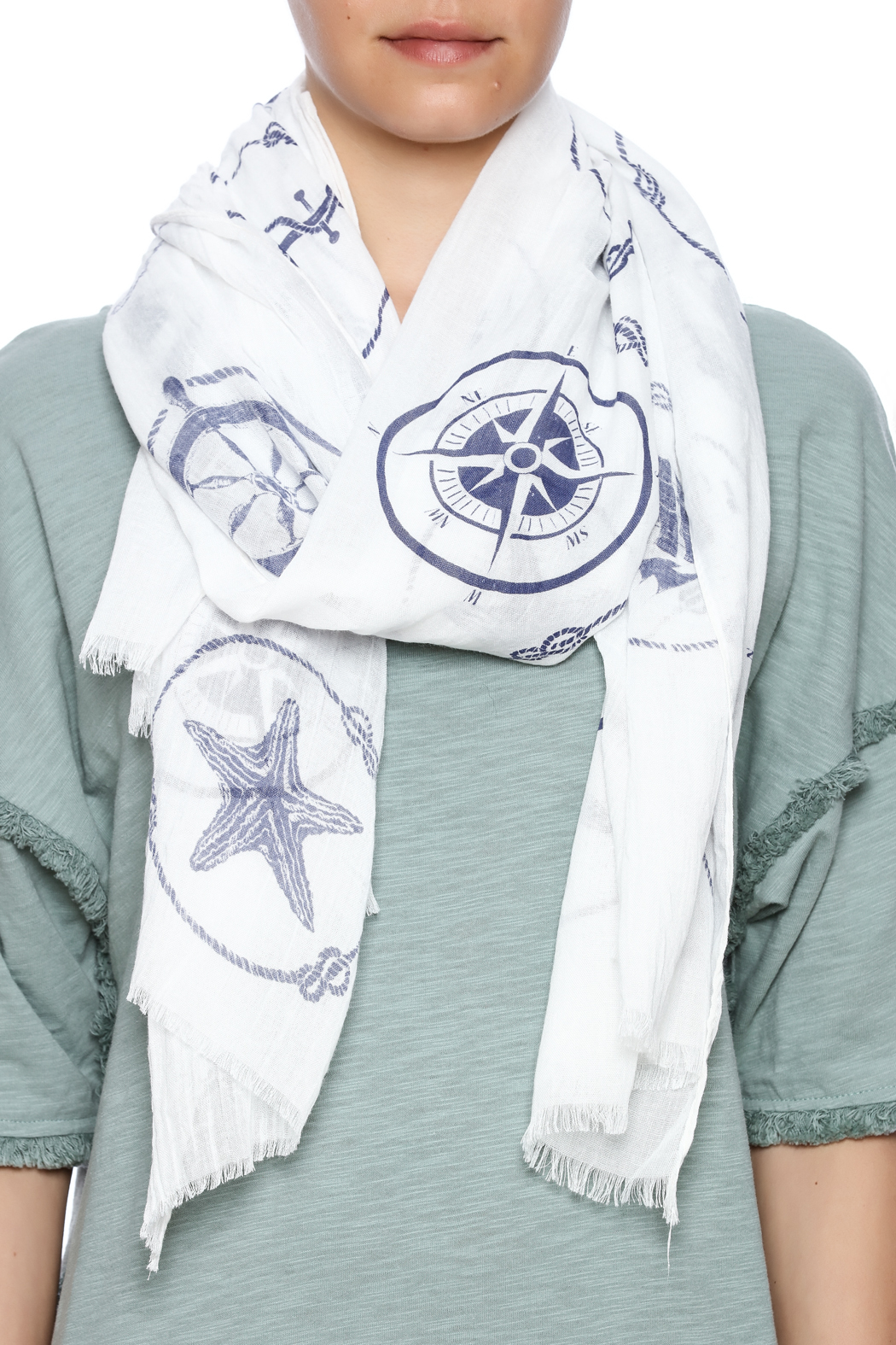Coco + Carmen Maritime Scarf - Front Full Image