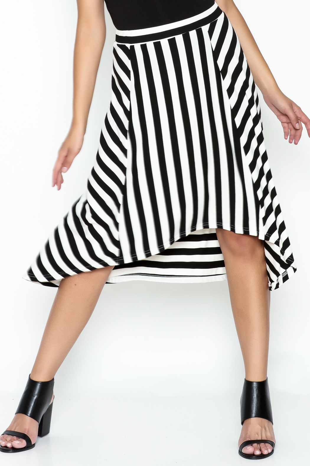 Coco + Carmen Striped Hi Low Skirt - Front Cropped Image