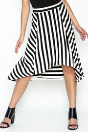 Coco + Carmen Striped Hi Low Skirt - Front cropped