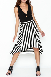 Coco + Carmen Striped Hi Low Skirt - Side cropped