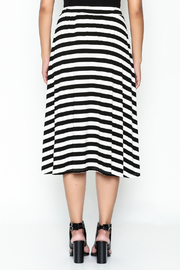 Coco + Carmen Striped Hi Low Skirt - Back cropped