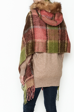 Coco + Carmen Peachy Plaid Wrap - Alternate List Image