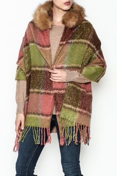 Coco + Carmen Peachy Plaid Wrap - Product List Image