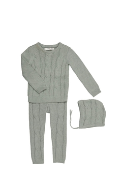 Shoptiques Product: COCO BLANC INFANT BABY CABLE KNIT 3 PIECE SET