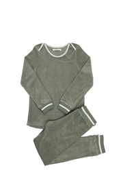 Coco Blanc COCO BLANC VELOUR PAJAMAS - Front cropped