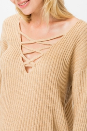 Cozy Casual Coco Criss-Cross Sweater - Product Mini Image