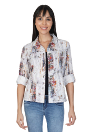 Parsley and Sage Coco Distressed Light Jacket - Product Mini Image