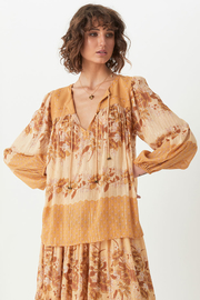 Spell & the Gypsy Collective Coco Lei Blouse in Caramel - Front cropped