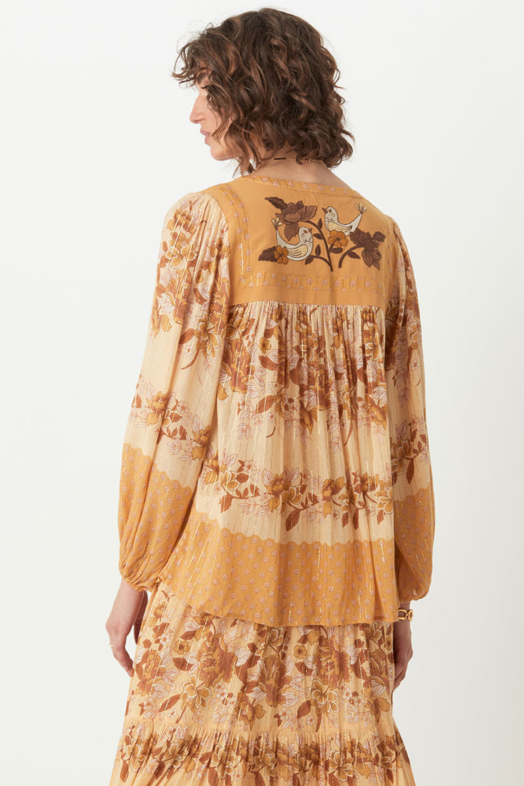 Spell & the Gypsy Collective Coco Lei Blouse in Caramel - Side Cropped Image