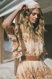 Spell & the Gypsy Collective Coco Lei Head Scarf in Caramel - Front cropped