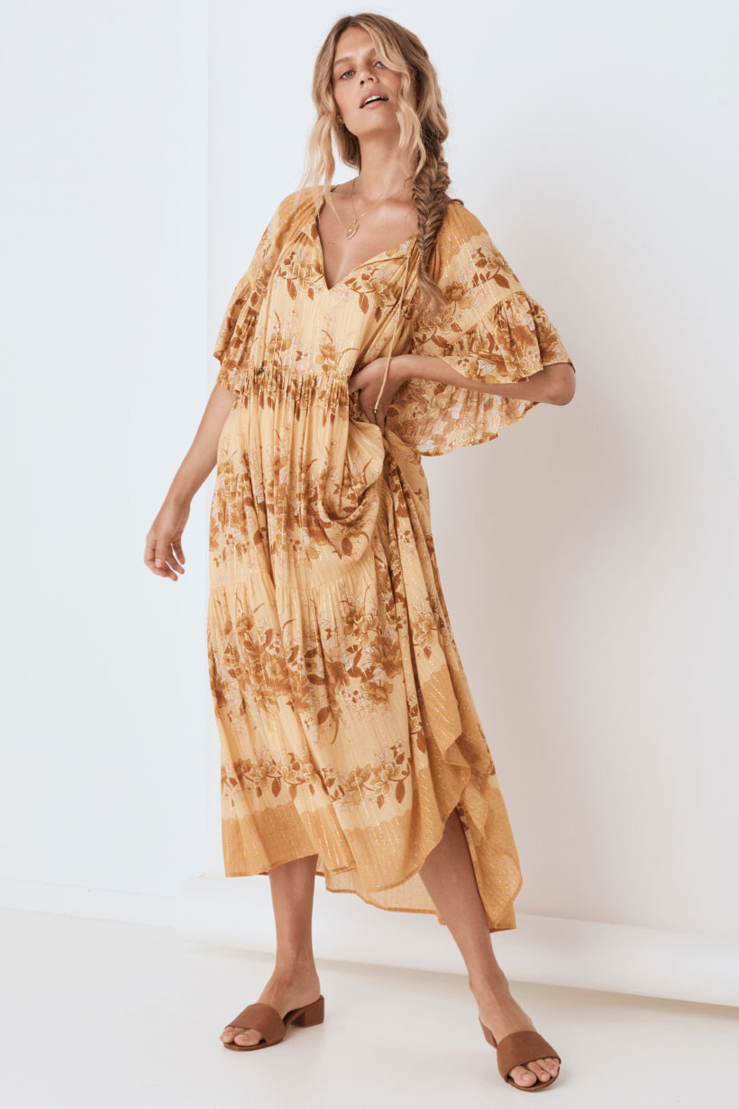 Spell & the Gypsy Collective Coco Lei Mumu in Caramel - Front Full Image